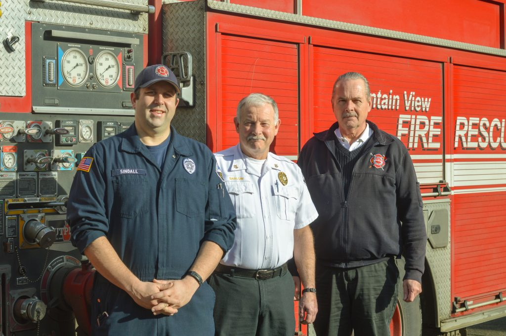 King County Fire District 44 staff and Chief Greg Smith